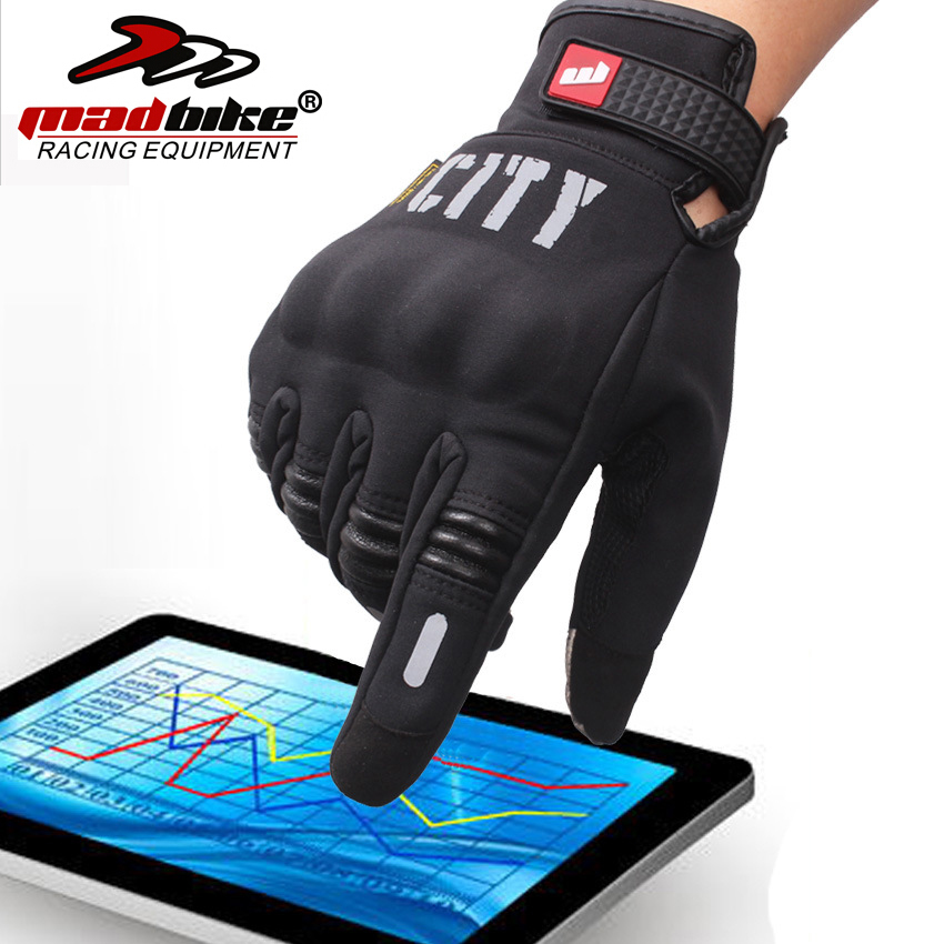 Mad Bike CITY Motorcycle Gloves Bike Bicycle Full Finger glove Knight Gloves Drop Resistance Touch Screen Gloves Guantes Luvas(China (Mainland))