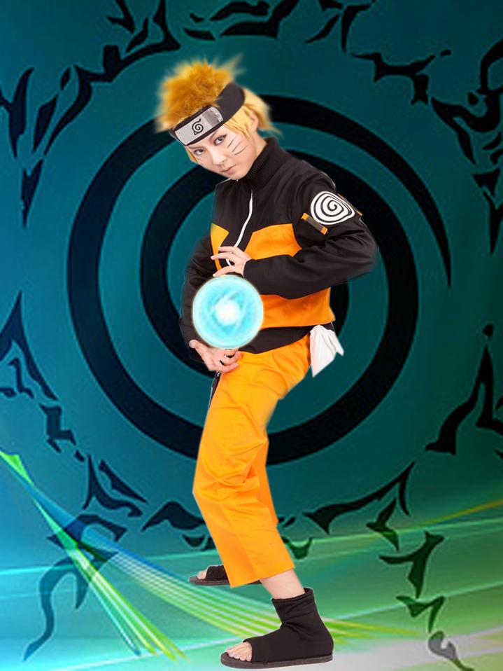 Free Shipping Naruto Uzumaki Naruto in Manga Anime Cosplay Costumes(China (Mainland))