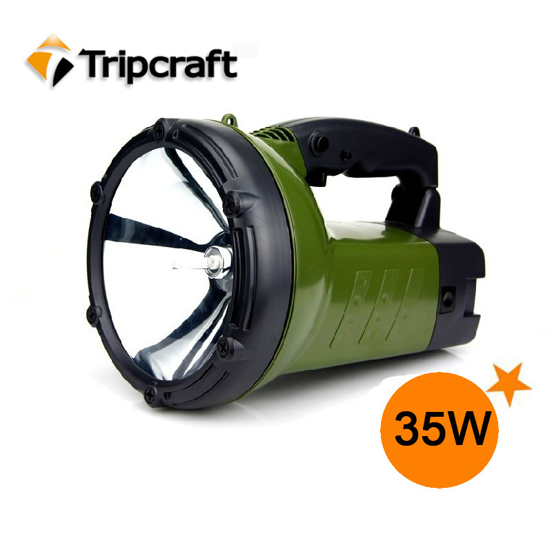 High Intensity! 35W 12V Flood Beam Rechargeable battery HID TRUCK LIGHT for hunting camping(China (Mainland))