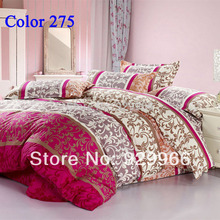 Luxury Chinese wind 4pcs Free Shipping Good quality Bedding set 4 pcs ( duvet cover+flat sheet+2pillowcase) Queen King size(China (Mainland))