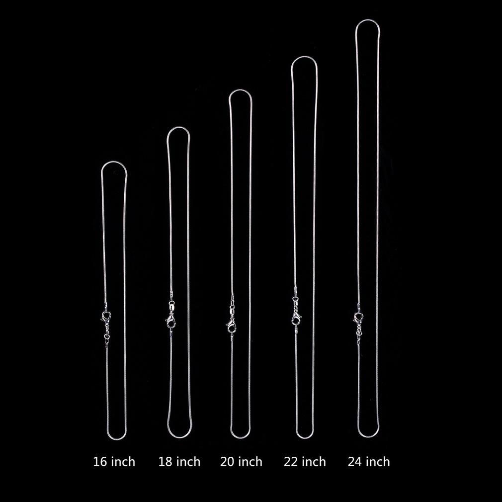 New Fashion 5pcs Silvery Snake Chain Necklace 16-24 Inch 1.2mm Jewelry Gift(China (Mainland))