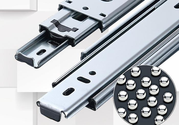 Stainless steel drawer track three mute slide rail chute Furniture Hardware<br><br>Aliexpress