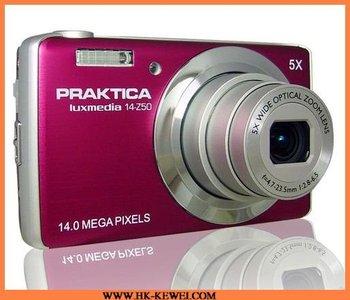 Free Shipping Hot Selling Praktica Digital Camera, 14MP, 2.7'inch TFT LCD,5X Optical Zoom,5X Digital Zoom(14-Z50)