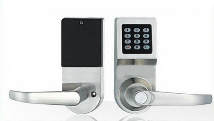 new 1 pcs lot electronic rfid mechanical key outdoor digital keypad door lock for office. Black Bedroom Furniture Sets. Home Design Ideas