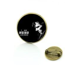 TAFREE vintage Sherlock Holmes Benedetto spilla pins antique uomini di modo delle donne dei monili di fascini I am Sherlocked distintivo spille CT07(China)