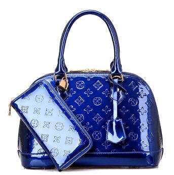 2015 new hot luxury European women handbags embossing tote patent leather women shoulder messenger bag bolsa feminina wallet(China (Mainland))