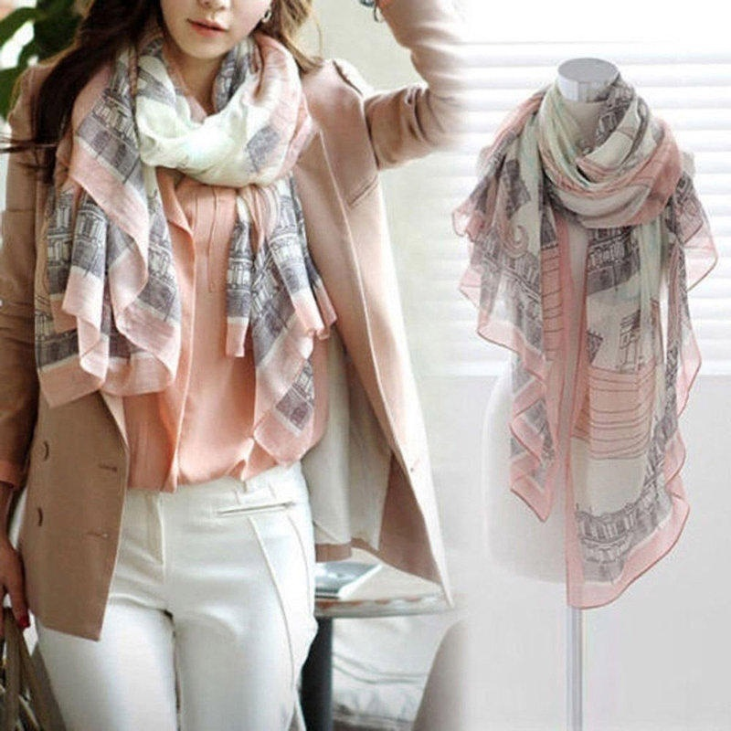2016 New Elegant Women Long Print Cotton Scarf Wrap Ladies Shawl Silk Scarves Hot Sale echarpes foulards femme(China (Mainland))