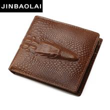 Buy new arrive men wallets JINBAOLAI famous brand genuine leather wallets design wallet coin pocket men card holder wallet for $8.83 in AliExpress store
