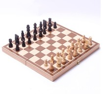 Folding Folable Wooden International Chess Set Board Game Funny Game(China (Mainland))