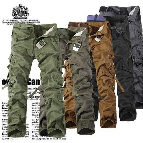 Large Size 28-38 in Stock Mens Pants,High Quality Men Military Cargo Pants Trousers,Outdoor Sport Pants for men Free Shipping(China (Mainland))
