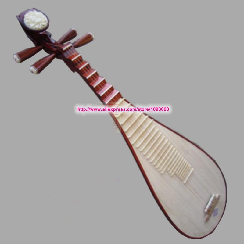 Red Hardwood Inlay Lute Pipa Standard Instrument Practice for Beginners High Grade Professional Genuine(China (Mainland))