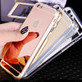 Luxurious electroplating mirror Silicone Ultra Slim TPU Clear soft Phone Case For iphone 5 5S SE
