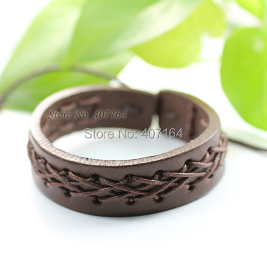 SF10- fashionable brown wrap genuine leather bracelet braided rope men - SunFlower Trade Co.,Ltd store