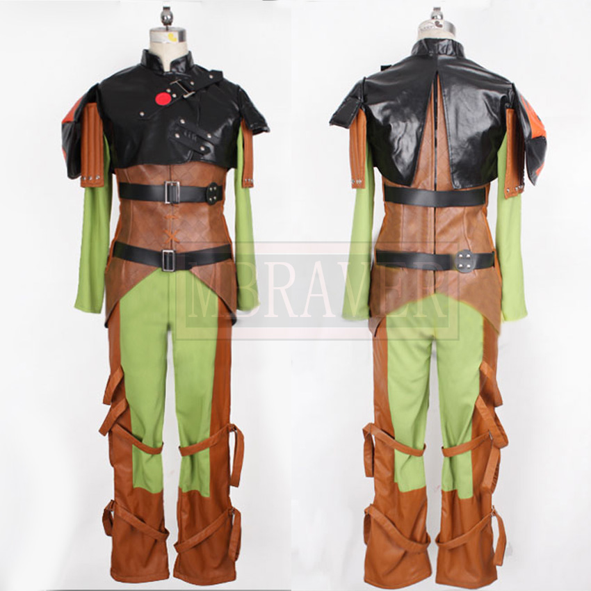How to train your dragon 2 Hiccup Cosplay Costume Fighting Full Set Custom Made Any Size(China (Mainland))