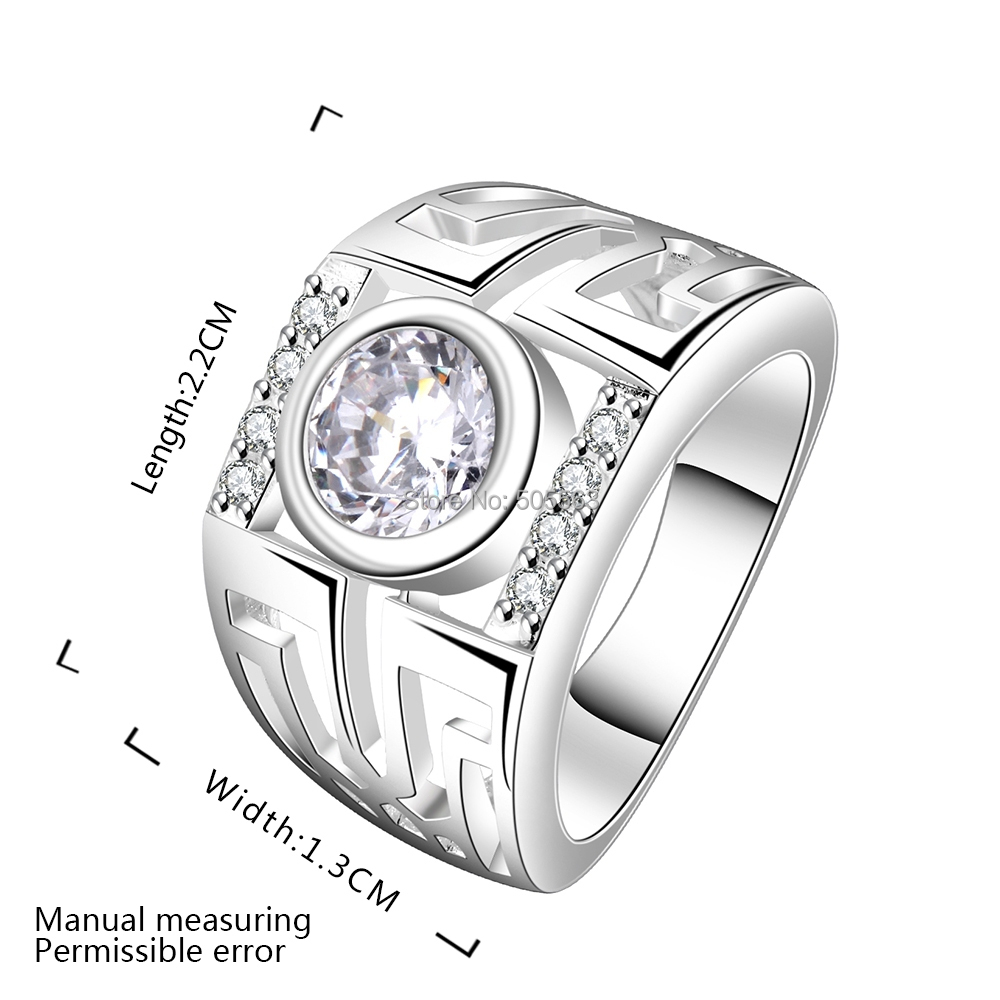 Silver plated ring with big shiny stone women gifts 2016 Trendy womens gifts 2015