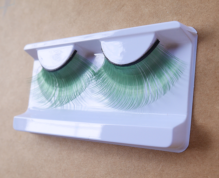 light green synthetic fibers false eyelash stage makeup cosplay  -  jessie king's store store