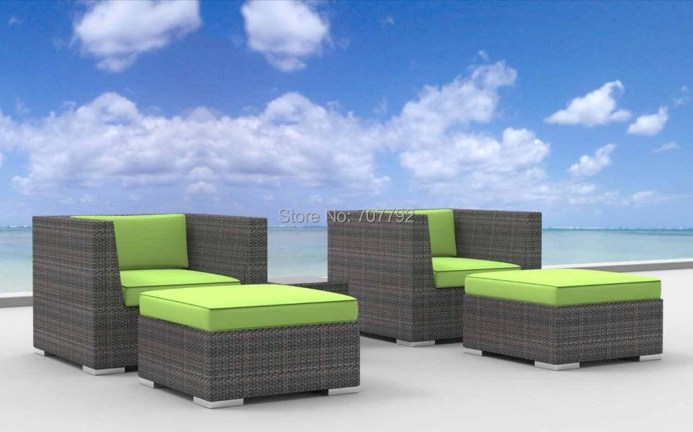 2015 Curacao 5pc Modern resin wicker outdoor furniture modular sofa sets(China (Mainland))
