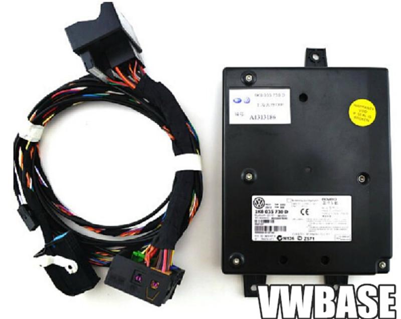 OEM VW RCD510 9W2 Bluetooth Module+Plug&Play Harness+Microphone For Volkswagen Golf Jetta MK5 MK6 MKV Passat B6 1K8 035 730 D(China (Mainland))