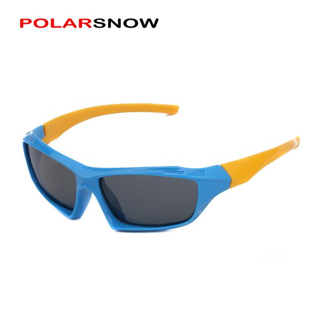 POLARSNOW Unbreakable TR90 Мальчики Девочки Очки На Открытом Воздухе Очки Поляризованные Модные Солнцезащитные Очки Для Детей Очки Аксессуары