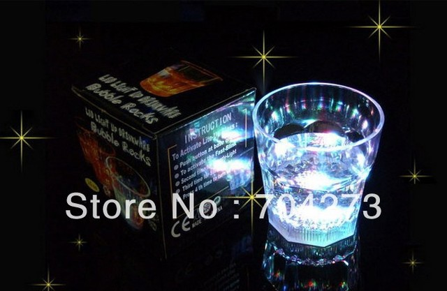 Water Activated LED Light-Up blinking Flashing Rocks Glass Barware Lamp Wine Cup Whiskey Cup free shipping