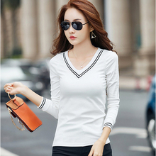 Buy Poleras Manga Larga Mujer 2017 Women Korean Clothes Kawaii Tshirt T Shirt White T-Shirt Long Sleeve Tops Cotton Womens Clothing for $8.49 in AliExpress store