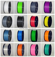 Muticolor 3d printer filaments PLA/ABS 1.75mm/3mm 1kg plastic Rubber Consumables Material MakerBot/RepRap/UP/Mendel