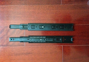 45 high-quality linear guide rail drawer three balls wear muted furniture chute slide(China (Mainland))