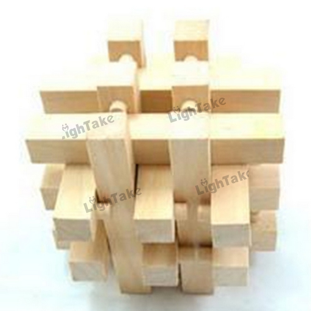 Classical Intellectual Toys 18 Sticks Wooden Cube/Educational Toy Wooden Puzzle Set,Kong Ming/Luban Lock for Adult Children(China (Mainland))