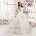 Vestidos de Noiva 2016 Vintage Wedding Dress Custom Made Ball Gown Bridal Dresses Crystal Louisvuigon Belt