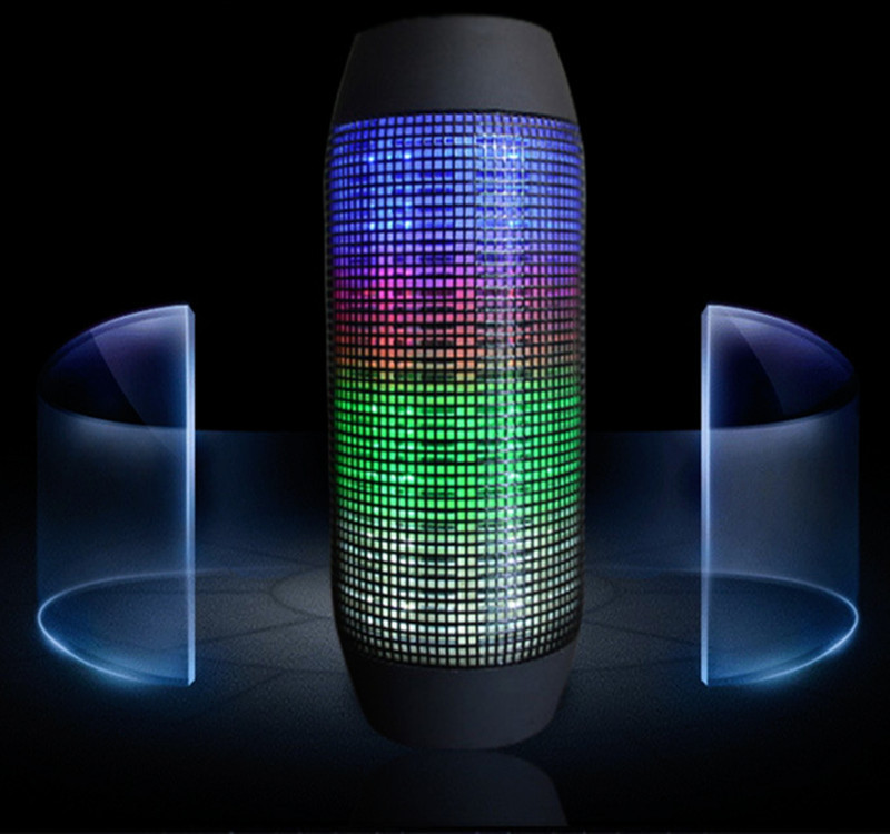 New Hot Pulse Portable Wireless Bluetooth Speaker Support Colorful 360 LED lights U-disck and TF card Outdoor Speaker(China (Mainland))