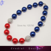Free shipping 4th Of July Necklace National Designs For Holiday Necklace # CDNL-307412(China (Mainland))
