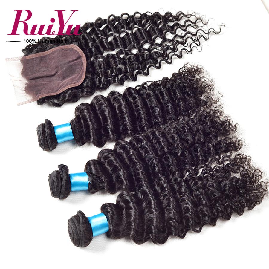 Grade 6A queen hair products  peruvian virgin hair deep wave with closure,peruvian lace closure 10