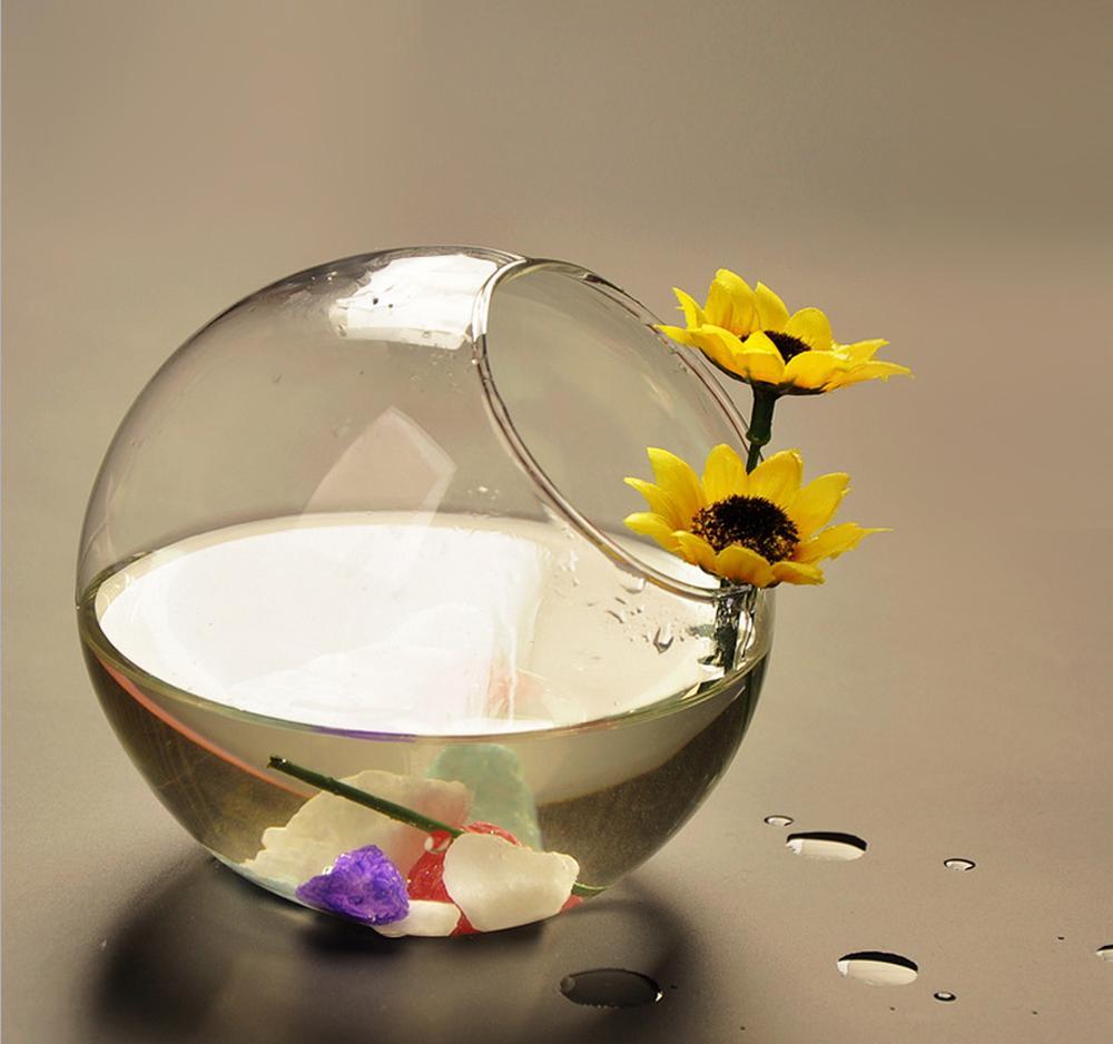 Kristalglas bloem planter vaas vissenkom vissenkom tank terrarium recipi nt hydrocultuur pot - Thuis container verkoop ...