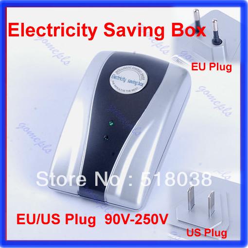Energy Saver Box Power Electricity Saving Box Save Electricity Bill & EU/US plug(China (Mainland))