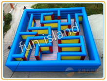 large outdoor labyrinth games inflatable maze toys for sale(China (Mainland))