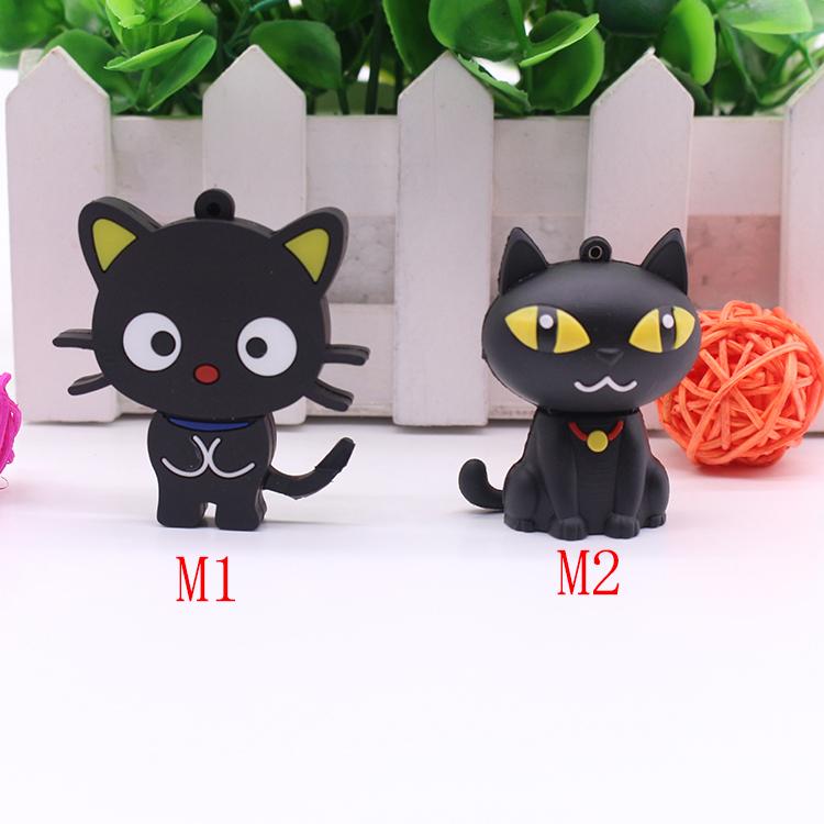Hot Sale pen drive cartoon Black cat 4GB 8GB 16GB 32GB 64GB usb flash drive Cool New chococat usb 2.0 memory stick thumb drive(China (Mainland))