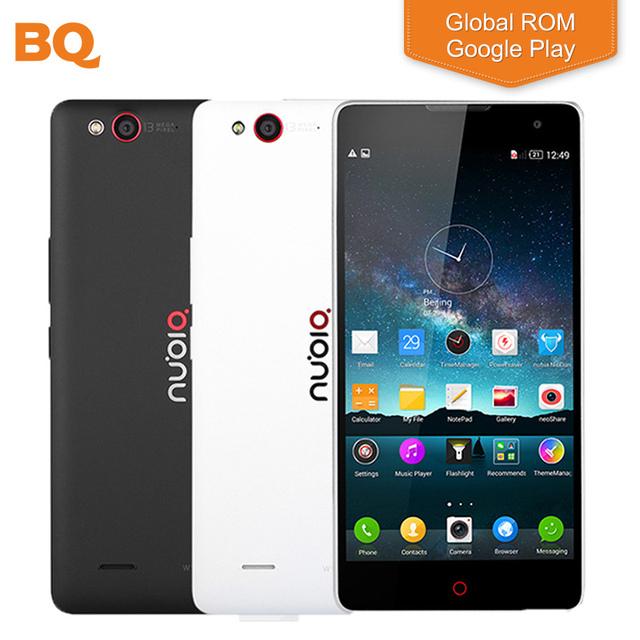 "Оригинал ZTE Nubia Z7 Max 32 ГБ ROM Мобильный Телефон 5.5 ""1920*1080 P Snapdragon 801 Quad Core 2 ГБ RAM 13MP Android 5.1 Смартфон"