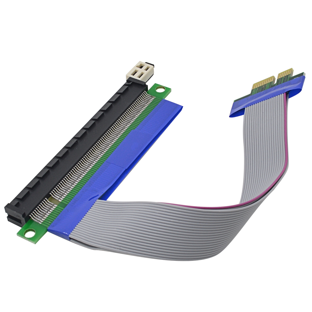 10pcs/Lot High Quality pcie PCI E Express PCI-E 1X to 16X Riser Card USB Extender Ribbon Adapter Extension Cable(China (Mainland))