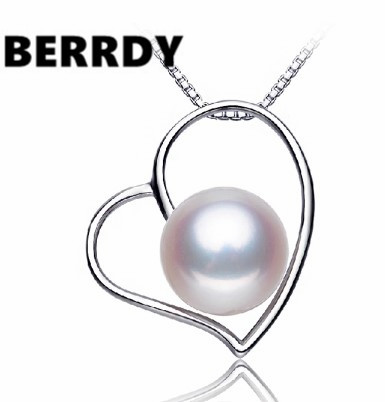 4 color Real Freshwater Pearl Pendant Necklace Nice Quality Exquiste HEART Hot Unique Necklace for Lady Nice Gift(China (Mainland))