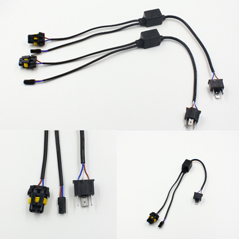 automotive harness connectors promotion shop for promotional 10pcs universal h4 hi lo relay wiring harness hid xenon ballast cables wire connector for one auto motor headlamp light