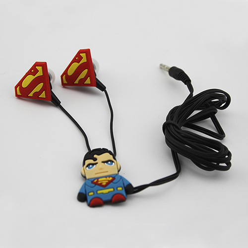 cheap headphones china 3.5mm In-ear earphone superman headset kids headphones for iPhone 6 5 Other Various Mobile Phones MP3 MP4(China (Mainland))