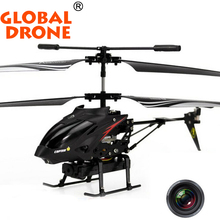 Original WLtoys S977 3.5 Channel Alloy Video Shooting RC Aircraft rc helicopter with hd camera Vs V911