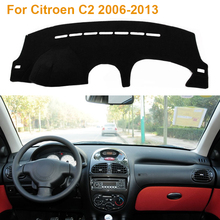 2016 Car Styling Dashboard Protective Mat Shade Cushion Photophobism Pad Interior Carpet Citroen C2 2006-2013 - Car's store
