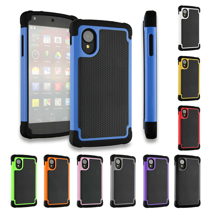 Nexus 5 Case Cover Armor 3D Hybrid Kickstand Shockproof Silicone Phone Cases LG Google Nexus5 Back Luxury  -  Eokii A Store store