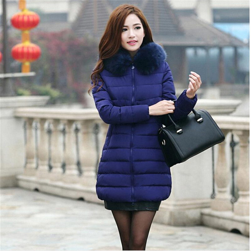 Womens Winter Coat New Parkas Female Thick Down Padded Cotton Jacket Women Long Outwear Plus Size Casual Jacket Coat C1251Одежда и ак�е��уары<br><br><br>Aliexpress