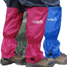 2016 1 Pair of camping gaiters Waterproof Outdoor Hiking Walking mountaineering ski trekking Snow Legging Gaiters 6 colors