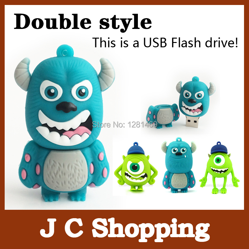 smile cow pen drive monster university 4g 8g 16g 32g u disk bulk usb flash drive flash memory stick pendrive mini free shipping(China (Mainland))