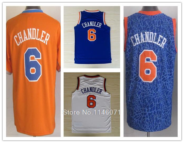 Fans New York #6 Tyson Chandler Jersey Blue White Stitched Leopard Tyson Chandler Orange Jersey Wholesale Shop(China (Mainland))