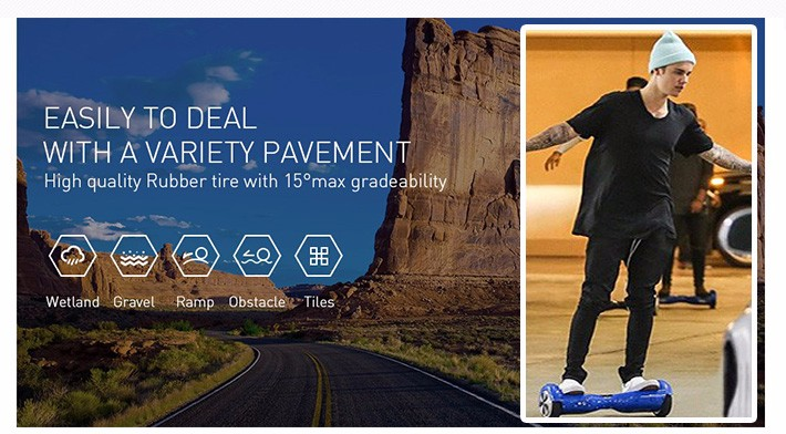 APP control Electric scooter 2 wheels self balance electric unicycle balance skateboard skywalker 6.5inch balancing hoverboard