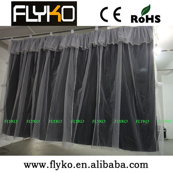 Free shipping wedding background yarn curtain 2X3Meters Soft Cutain Wedding Backdrops Wedding stage decorate(China (Mainland))